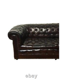 Antique Leather Chesterfield Sofa, late 19th C