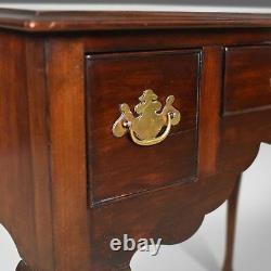 Antique Lowboy, English, Late Victorian, Mahogany Table, Circa 1900