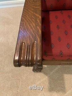 Antique Morris Chair, hand carved, late 1800s
