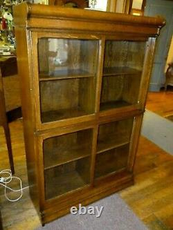 Antique OaK Bookcase Stacking Barrister John Danner co. Refinished late 1800's
