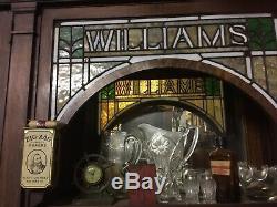Antique Oak Back Bar Late 1800s! Man'fd by Koehler & Hinrichs