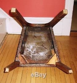 Antique Oak Hall Chair Viking Motif Late 19th Century
