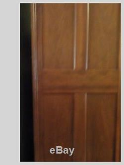 Antique Oak Wardrobe Armoire in Original Condition Two Doors Late 1800 & Mirror