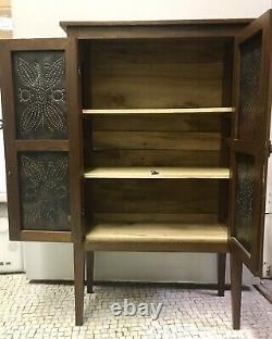 Antique Pie Safe Late 19th Century Minature Cabinet