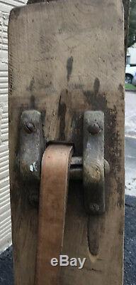 Antique Primitive Cobbler Leather Horse Saddle Maker Work Bench Late 1800's
