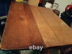 Antique Primitive Farm House Drop Leaf Table late 1800's