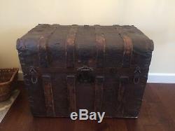 Antique Rare Vintage Trunk Chest Steamer Treasure Wardrobe late1800s