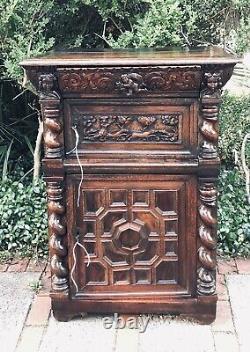 Antique Scandinavian Denmark Hunters Cabinet c. Mid to Late 18th Century RARE