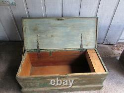 Antique Sea or Sailors Chest Early 1800's or Late 1700's