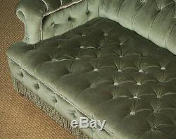 Antique Small Low Late 19th. C. Upholstered Couch c. 1890