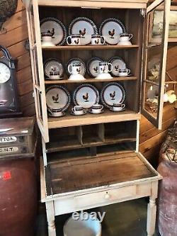 Antique Step Back Cabinet/Desk Hutch Primitive Late 19th Century