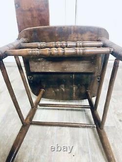 Antique Student Teacher Arm Chair School Desk Cast Iron Late 1800s Early 1900s