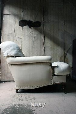 Antique Style Late 20thC Short Scroll Armchair by George Smith, Fulham Road