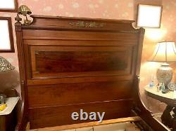 Antique Victorian Bed Frame Size Full Vintage Late 19th Century Original