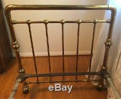 Antique Victorian Era Brass Twin Size Bed from Late 1800s Early 1900s