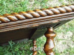 Antique / Vintage Merklen Bros / Hunzinger Late 19th C Oak Parlor Table