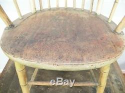 Antique WINDSOR ARM CHAIR Bamboo turning mid to late 1700's