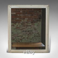 Antique Wall Mirror, English, Victorian, Pitch Pine, Late 19th Century C. 1880