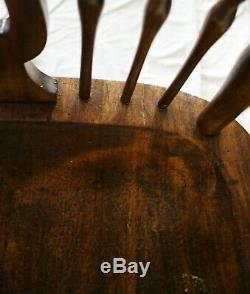 Antique Windsor Chair Nautical Carvings Late 1800's Early 1900s Original