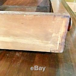 Antique Wood Secretary Windowed Shelves Circa Late 17c Early 18c Pickup Only