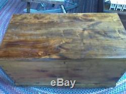 Antique cedar chest trunk blanket storage late 1600's early 1700's Zoar Ohio