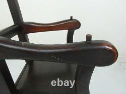 Antique charming late Georgian Oak childs / dolls Chair