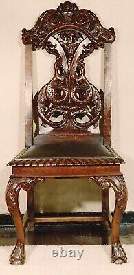 Antique dining set late 1800's, 100% Crafted Walnut, Queen Ann, Chipendale style