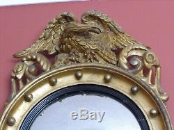 Antique mirror early 19th century c1820 late Georgian Victorian convex mirror