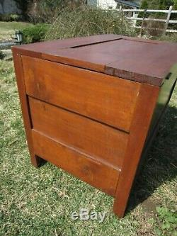 Antique paneled wooden Trunk, Pine, Central PA, late 1800's