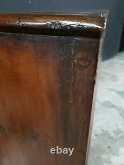 Antique walnut 2 over 3 drawer satin inlaid chest Late 19th century
