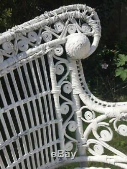 Antique wicker chair late 19th to early 20th century vintage