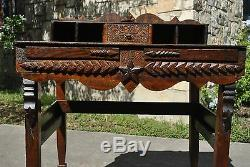 Astounding Late Early 1900's Texas Folk Art Desk Furniture Tramp Art