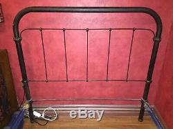 Authentic Late 1800-Early 1900 Wrought Iron, Full Bed Frame