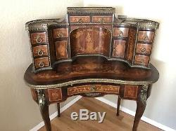 Beautiful French Late 19th Century Antique Louis XV Style Secretary Desk