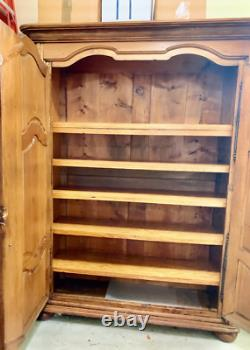 Beautiful French Oak Antique Armoire Late 18th/Early 19th Century