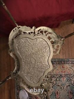 Bradley & Hubbard Cast Iron Late Victorian Art Nouveau Plant Stand Table