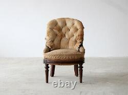 Button-Back Fireside Chair, French Late 19th Century