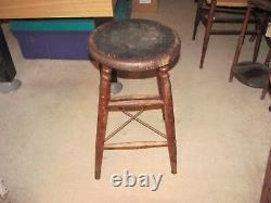 CIRCA LATE 1800's HEYWOOD BROS. & WAKEFIELD ANTIQUE STOOL withRARE OREGON LABEL