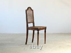 Caned Dining Chairs, French Late 19th Century