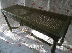 Charming FRENCH Louis 16 CANE CANNé BENCH BED BOTTOM Gilt Wood Late 1890 Cannage