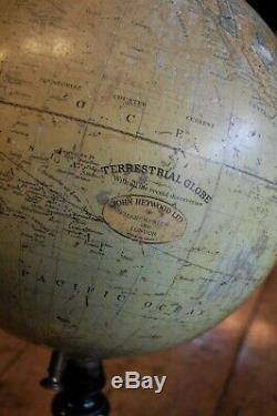 Desk Globe by John Heywood LTD Large Late C19th