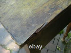 Early American Primitive Sheraton Late 19th Early 20th One Drawer Stand Table