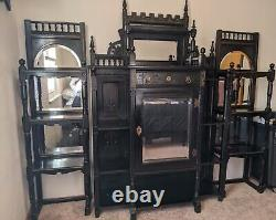 Ebonized and Mirrored Eastlake Furniture, Victorian, late 19th century