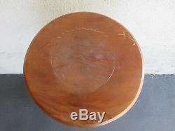 Elegant 36 H Late Victorian Antique Oak Plant Bust Wood Stand 14 Diameter Top
