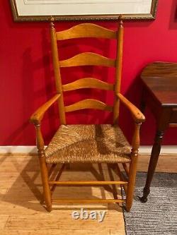 FANTASTIC Late 18th Century Pennsylvania Ash Ladderback Chair