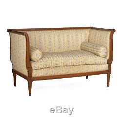 FRENCH ANTIQUE SOFA Antique Louis XVI Style Loveseat Canape, late 19th century