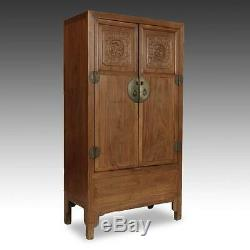 Fine Antique Chinese Jiangsu Beech Wood Cabinet Wardrobe China Late-18th C