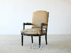 French Ebonised Armchair, Late 19th Century
