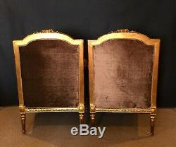 French Empire club Chairs/fauteuils Pair late 1800's