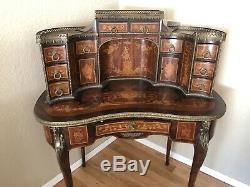 French Late 19th Century Antique Louis XV Style Secretary Desk